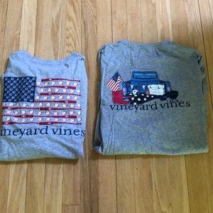 Long sleeve vineyard Vines t shirts L
